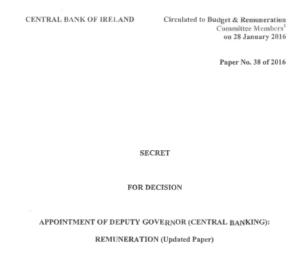 Central Bank Secret