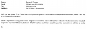 O'Connor Email